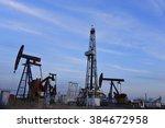 the oil pump  | Shutterstock . vector #384672958