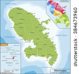 map of martinique | Shutterstock .eps vector #384673960
