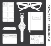 illustration of objects every... | Shutterstock .eps vector #384674260