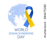 world down syndrome day ... | Shutterstock .eps vector #384675280