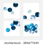 abstract trendy set with... | Shutterstock . vector #384677644