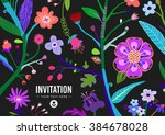 bright and colorful floral... | Shutterstock .eps vector #384678028