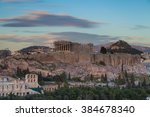 athens  greece acropolis | Shutterstock . vector #384678340