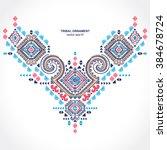 tribal vector ethnic mexican  ... | Shutterstock .eps vector #384678724