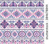 vector tribal mexican vintage... | Shutterstock .eps vector #384678844