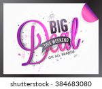 big deal sale banner  sale... | Shutterstock .eps vector #384683080