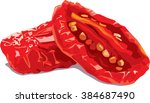 sun dried plum like tomato ... | Shutterstock .eps vector #384687490