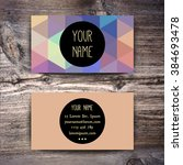 business card template with... | Shutterstock .eps vector #384693478