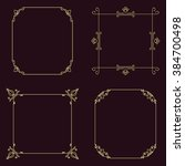 set of vector thin vintage gold ... | Shutterstock .eps vector #384700498