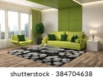 interior with sofa. 3d... | Shutterstock . vector #384704638