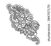 doodle vector illustration... | Shutterstock .eps vector #384707170