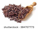 Heap Of Cacao Nibs  Isolated O...