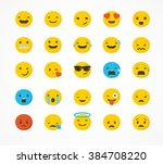 set of emoticons  emoji... | Shutterstock .eps vector #384708220