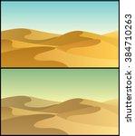 desert 3  desert landscape in 2 ... | Shutterstock .eps vector #384710263