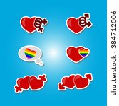 color set with gays icons for... | Shutterstock .eps vector #384712006