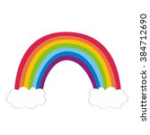 rainbow with clouds   Shutterstock . vector #384712690