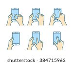 touch screen gestures icon for... | Shutterstock .eps vector #384715963