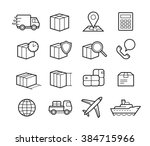 parcel delivery service icon... | Shutterstock .eps vector #384715966