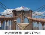 historic brooklyn bridge  new...   Shutterstock . vector #384717934
