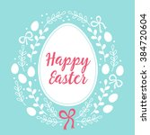 easter greeting card with big... | Shutterstock .eps vector #384720604