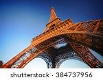 Eiffel Tower On Sunset ...
