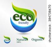 set  eco logos  design template ...   Shutterstock .eps vector #384738670