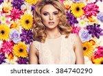 beautiful sensual woman in... | Shutterstock . vector #384740290