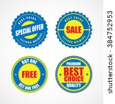 business stickers and tags.... | Shutterstock .eps vector #384752953