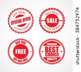 business stickers and tags.... | Shutterstock .eps vector #384752974