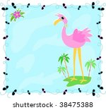 leaf frame with flamingo on an... | Shutterstock .eps vector #38475388