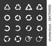 recycle icon set  line version  ... | Shutterstock .eps vector #384754000