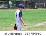 little league baseball player... | Shutterstock . vector #384754960