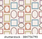 colorful vintage photo frame... | Shutterstock . vector #384756790