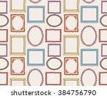 colorful vintage photo frame... | Shutterstock . vector #384756790