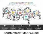 infographics business design... | Shutterstock .eps vector #384761308