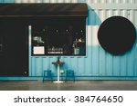 front of coffee shop. | Shutterstock . vector #384764650