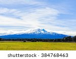 far view of the snowy peaks of... | Shutterstock . vector #384768463