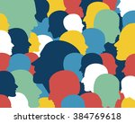 people profile heads. vector... | Shutterstock .eps vector #384769618