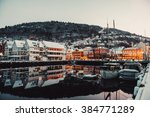 morning view on bruges. bergen. ... | Shutterstock . vector #384771289