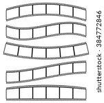 black and white film strips ... | Shutterstock . vector #384772846