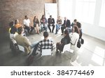 business team seminar corporate ... | Shutterstock . vector #384774469