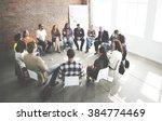 business team seminar corporate ... | Shutterstock . vector #384774469