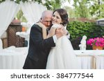 bride with grandfather. really... | Shutterstock . vector #384777544