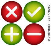 red cross  check mark  plus and ... | Shutterstock . vector #384778060