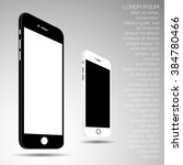 smart phone drawing set  vector ... | Shutterstock .eps vector #384780466