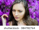 woman's face  magic of figures  ... | Shutterstock . vector #384782764