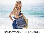 Beautiful Beach Babe With Bag ...