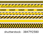 yellow with black police line... | Shutterstock . vector #384792580