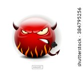 Emoticon Angry Like A Devil  ...