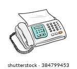 fax telephone  a hand drawn... | Shutterstock .eps vector #384799453